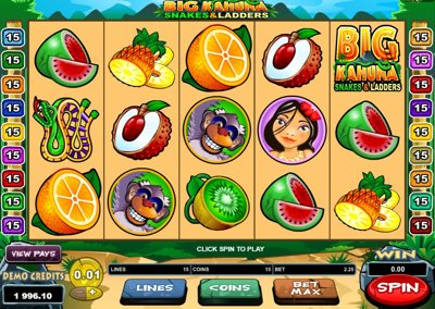 Microgaming Big Kahuna Snakes and Ladders