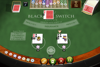 Playtech Blackjack Switch