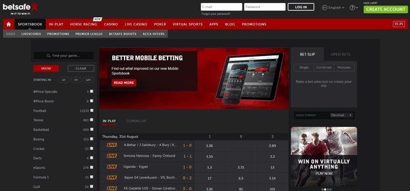 Betsafe Website