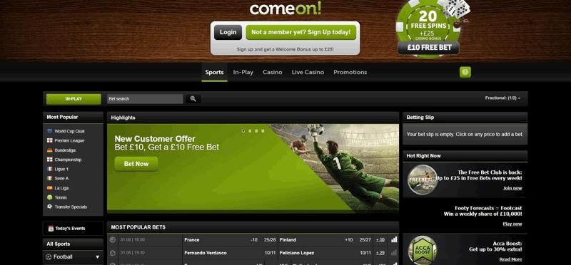 ComeOn Website