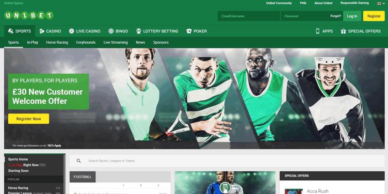 Unibet Website