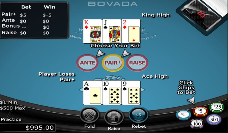 Three Card Poker Game