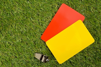 Red Card Yellow Card Whistle