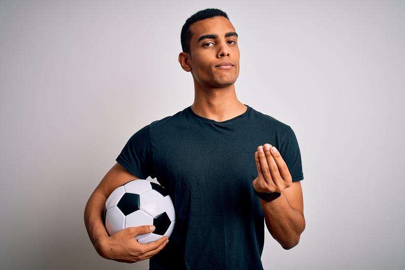 Football PLayer Money Gesture