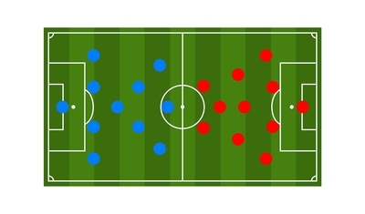 Two Football Teams Formation