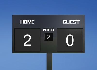 Scoreboard 2-0