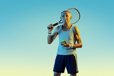 Elderly Tennis Player
