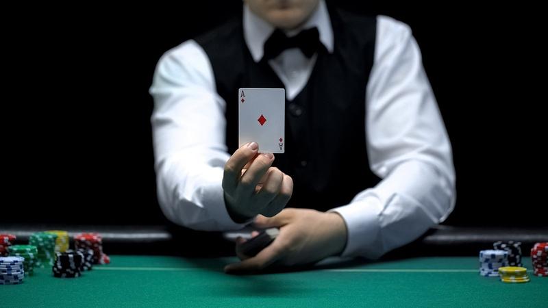 Dealer Holding Ace