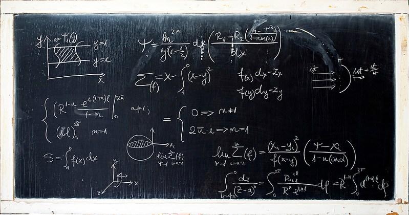 Maths Background Chalkboard