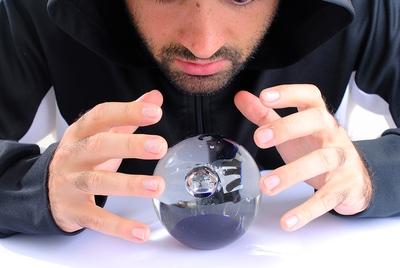 Man Reading Crystal ball