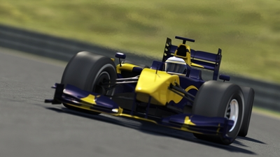 Yellow Formula One Car
