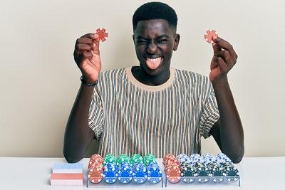 Happy Blackjack Player