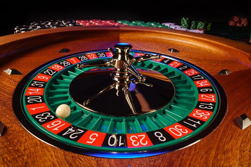 Roulette Ball on Black