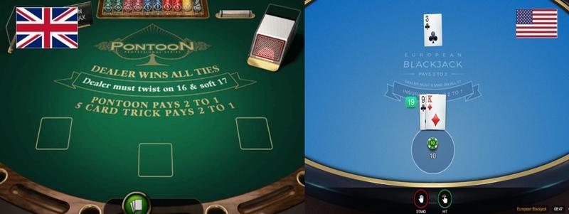 Pontoon vs Blackjack
