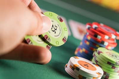 Betting Behind Casino Chips