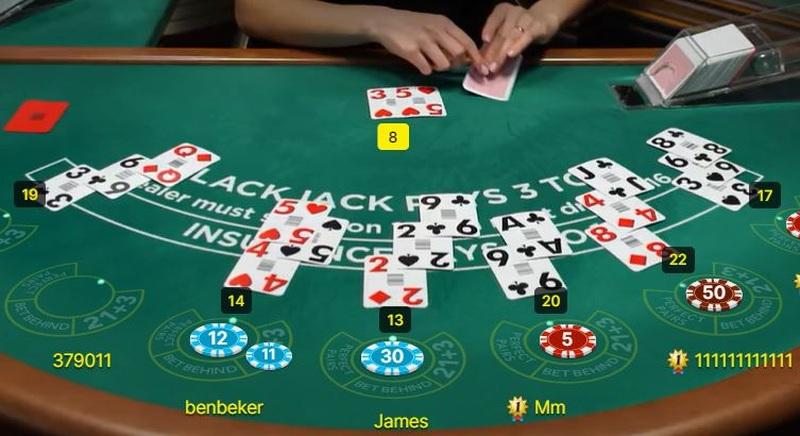 Betting Behind Players Online Blackjack