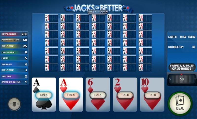 Jacks or Better Multi Hand