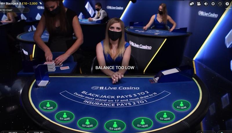 Live Casino Blackjack being Shuffled