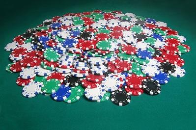 Huge Pot of Casino Chips