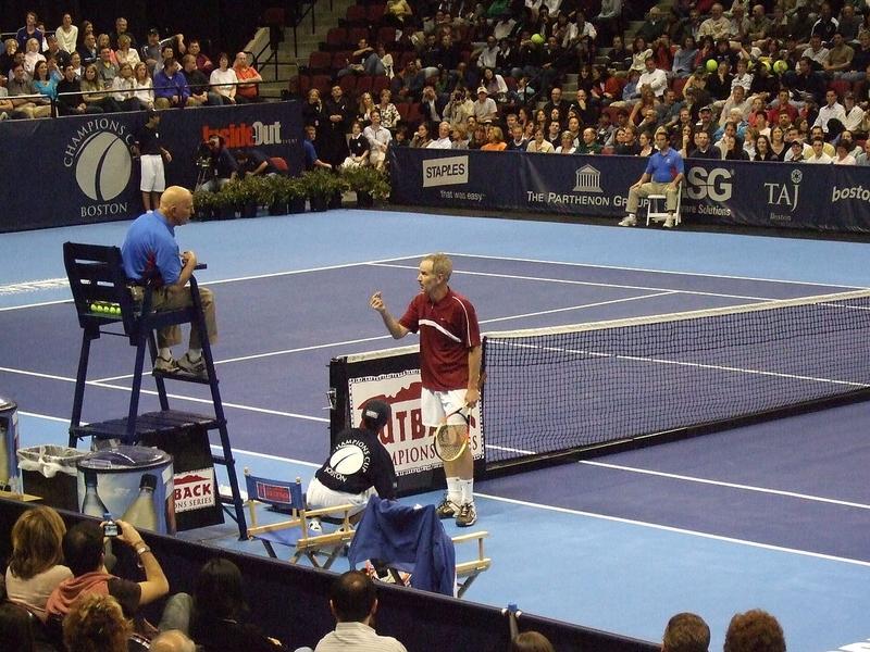 McEnroe Arguing with Umpire