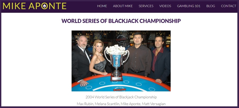 Mike Aponte World Series Blackjack