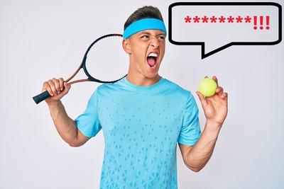 Tennis Player Swearing