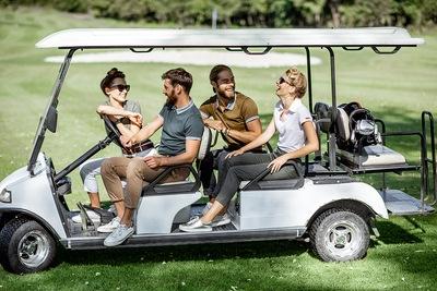 Golf Team on Car