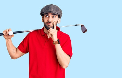 Golfer UNsure Thinking
