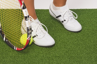 Tennis Shoe on Court