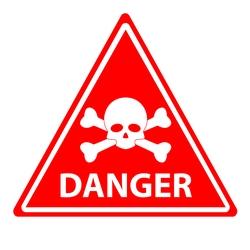 Danger Skull and Crossbones