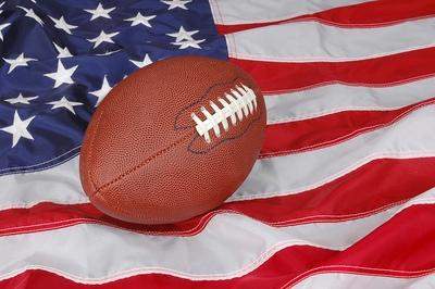 American Football USA Flag