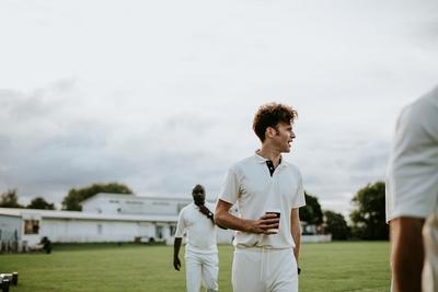 Cricket Player Tea Break